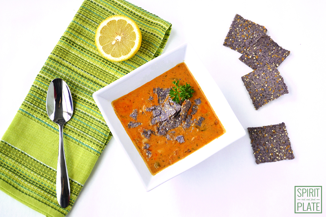 Vegan Spicy Tortilla Soup | SPIRITPLATE