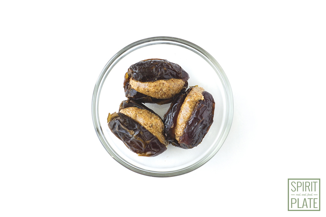 Almond Butter Stuffed Dates | SPIRITPLATE