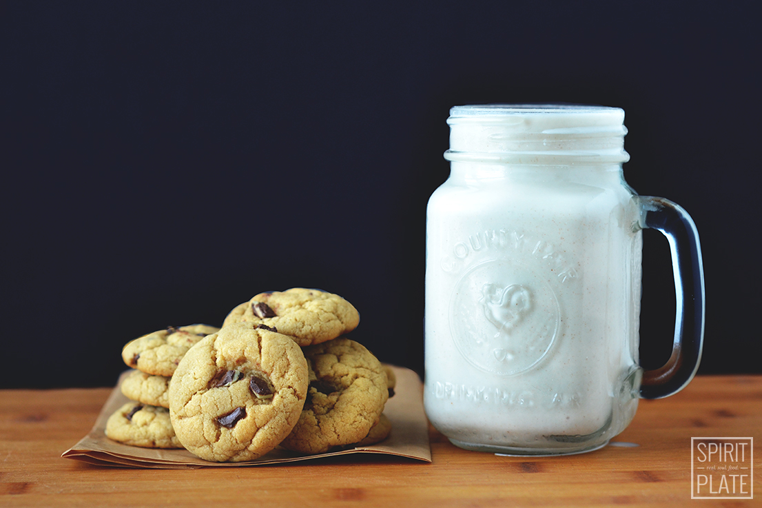 Mint Chocolate Chip Cookies and Homemade Almond Milk | SPIRITPLATE