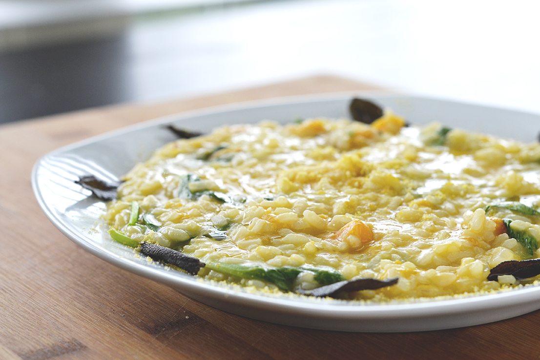 Roasted Butternut Squash Risotto with Sage Brown Butter | SPIRITPLATE