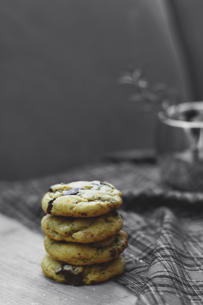 Dark Chocolate Orange Zest Cookies | SPIRITPLATE